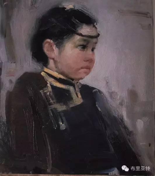 青年蒙古画家敖特格·巴达玛油画作品分享