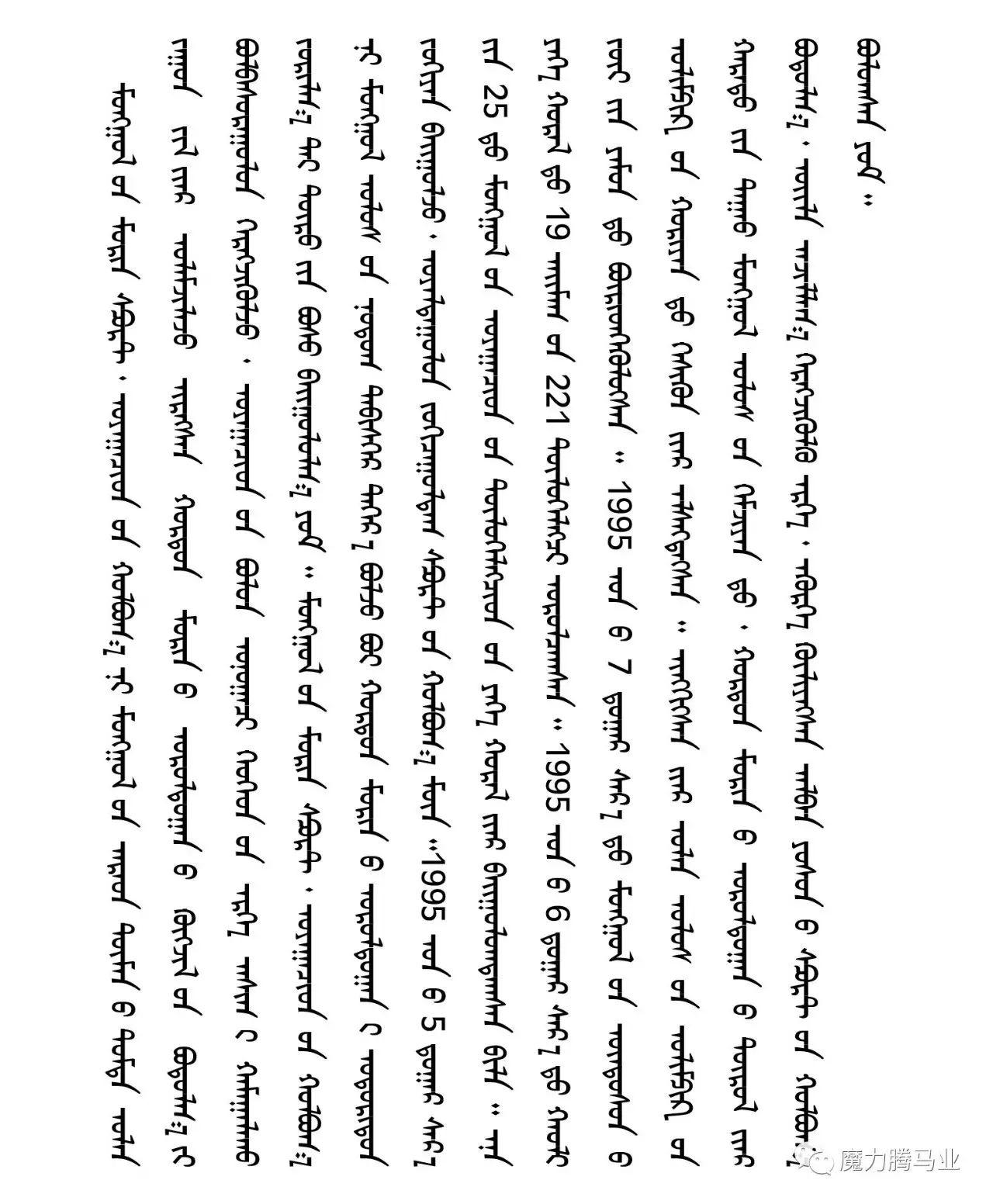 蒙古国赛马章程介绍 第3张