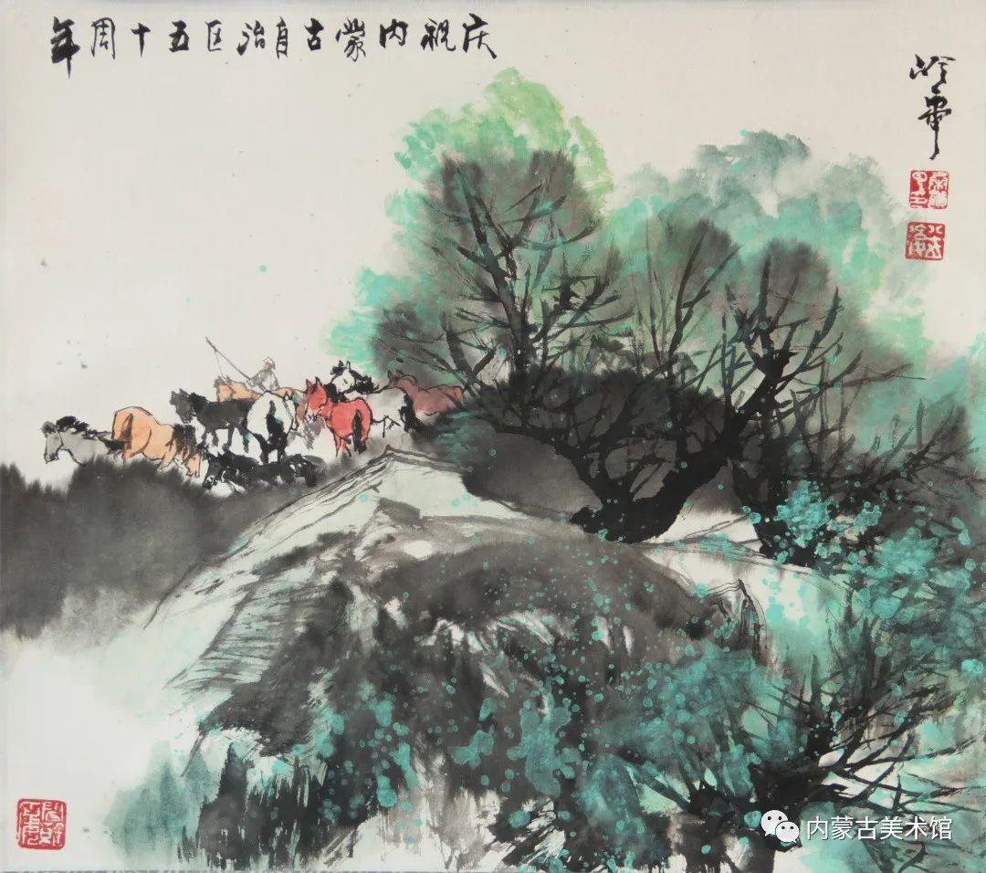 内蒙古美术馆,馆藏来了 第13张 内蒙古美术馆,馆藏来了 蒙古画廊
