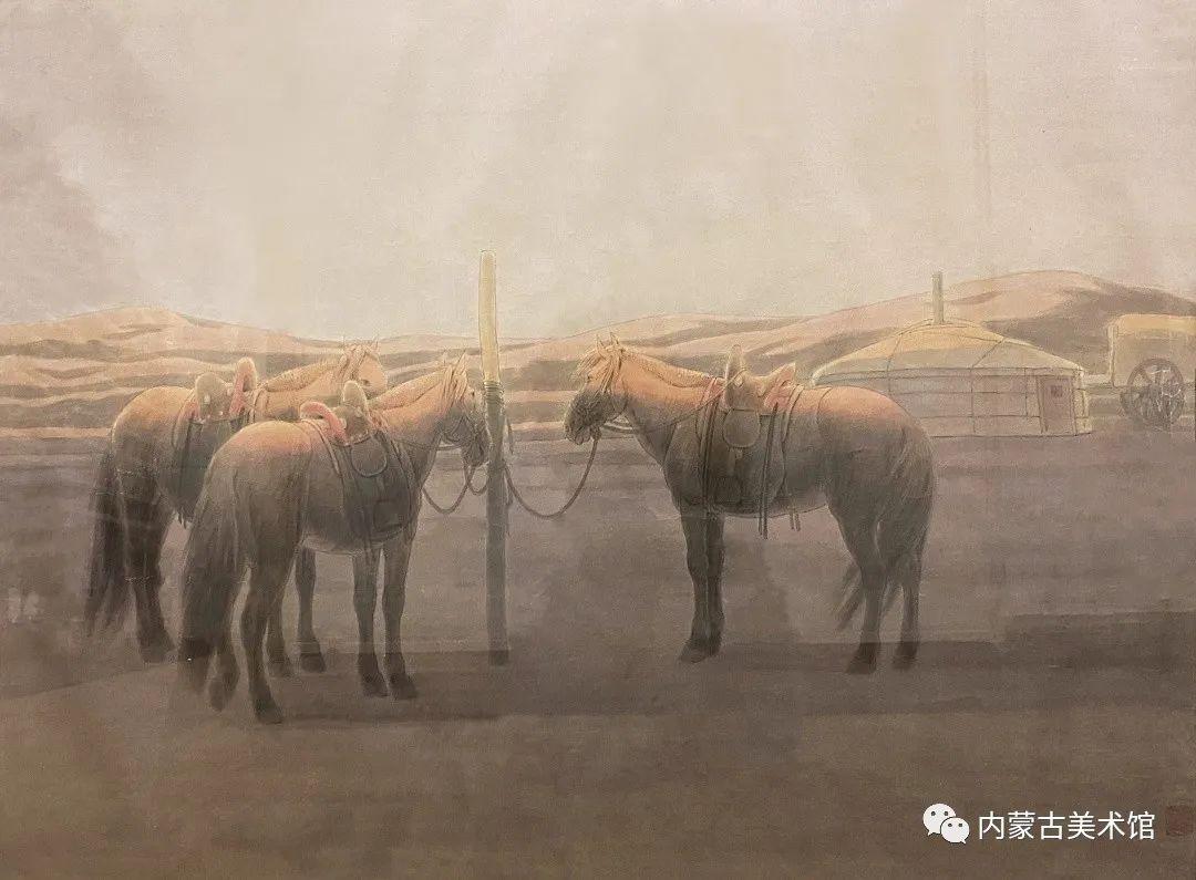 内蒙古美术馆,馆藏来了 第22张