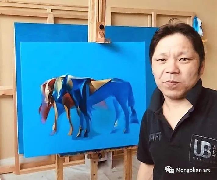 蒙古国青年艺术家 U.Battsooj