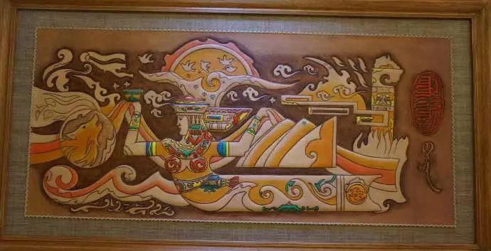 内蒙古民俗文化——内蒙古牛皮画 第3张