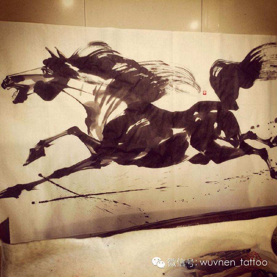 著名蒙古国书法家&画家Sukhbaatar为無南刺青创作并赠送珍贵书画作品 第6张 著名蒙古国书法家&画家Sukhbaatar为無南刺青创作并赠送珍贵书画作品 蒙古书法
