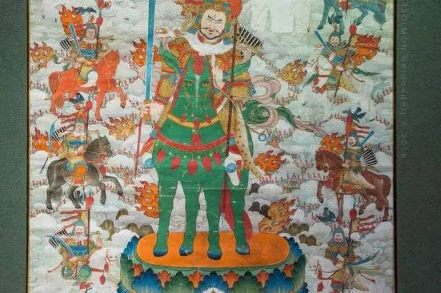 蒙古第一世哲布尊丹巴活佛亲身书画的圣主成吉思汗之像