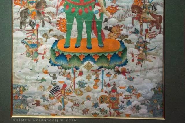 蒙古第一世哲布尊丹巴活佛亲身书画的圣主成吉思汗之像 第5张 蒙古第一世哲布尊丹巴活佛亲身书画的圣主成吉思汗之像 蒙古画廊