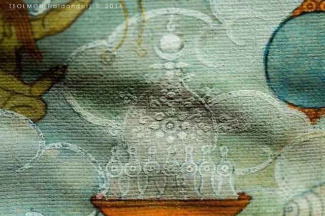 蒙古第一世哲布尊丹巴活佛亲身书画的圣主成吉思汗之像 第8张 蒙古第一世哲布尊丹巴活佛亲身书画的圣主成吉思汗之像 蒙古画廊