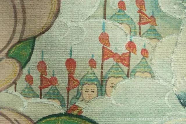 蒙古第一世哲布尊丹巴活佛亲身书画的圣主成吉思汗之像 第11张 蒙古第一世哲布尊丹巴活佛亲身书画的圣主成吉思汗之像 蒙古画廊