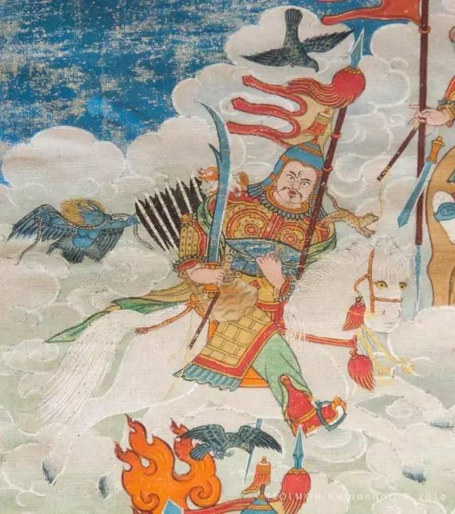 蒙古第一世哲布尊丹巴活佛亲身书画的圣主成吉思汗之像 第19张 蒙古第一世哲布尊丹巴活佛亲身书画的圣主成吉思汗之像 蒙古画廊