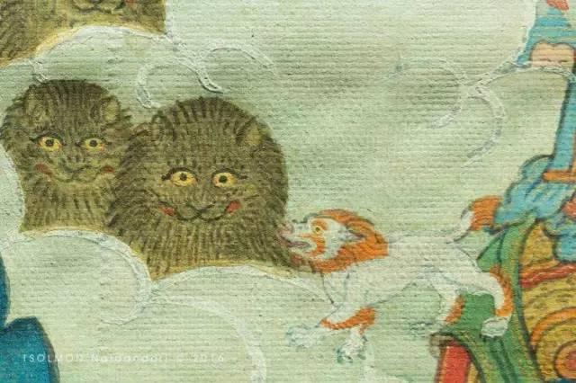 蒙古第一世哲布尊丹巴活佛亲身书画的圣主成吉思汗之像 第18张 蒙古第一世哲布尊丹巴活佛亲身书画的圣主成吉思汗之像 蒙古画廊