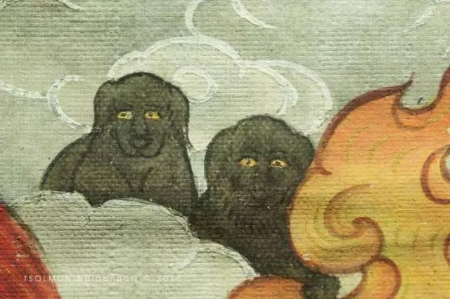 蒙古第一世哲布尊丹巴活佛亲身书画的圣主成吉思汗之像 第17张 蒙古第一世哲布尊丹巴活佛亲身书画的圣主成吉思汗之像 蒙古画廊
