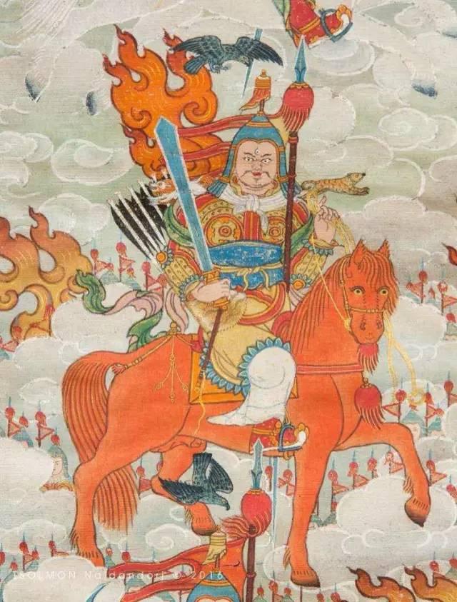 蒙古第一世哲布尊丹巴活佛亲身书画的圣主成吉思汗之像 第22张 蒙古第一世哲布尊丹巴活佛亲身书画的圣主成吉思汗之像 蒙古画廊