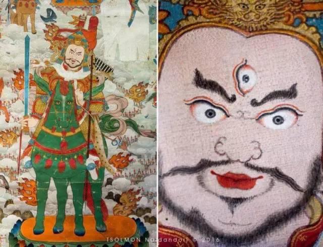 蒙古第一世哲布尊丹巴活佛亲身书画的圣主成吉思汗之像 第21张 蒙古第一世哲布尊丹巴活佛亲身书画的圣主成吉思汗之像 蒙古画廊