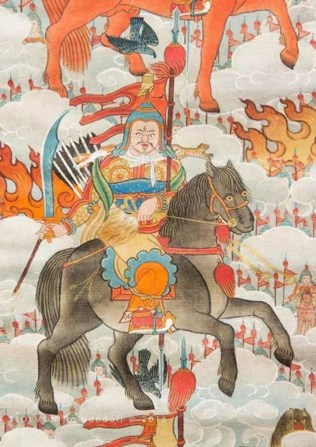 蒙古第一世哲布尊丹巴活佛亲身书画的圣主成吉思汗之像 第23张 蒙古第一世哲布尊丹巴活佛亲身书画的圣主成吉思汗之像 蒙古画廊