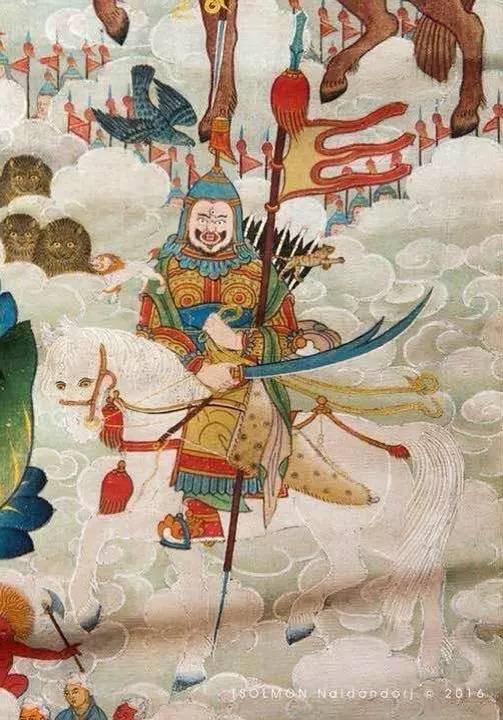 蒙古第一世哲布尊丹巴活佛亲身书画的圣主成吉思汗之像 第25张 蒙古第一世哲布尊丹巴活佛亲身书画的圣主成吉思汗之像 蒙古画廊