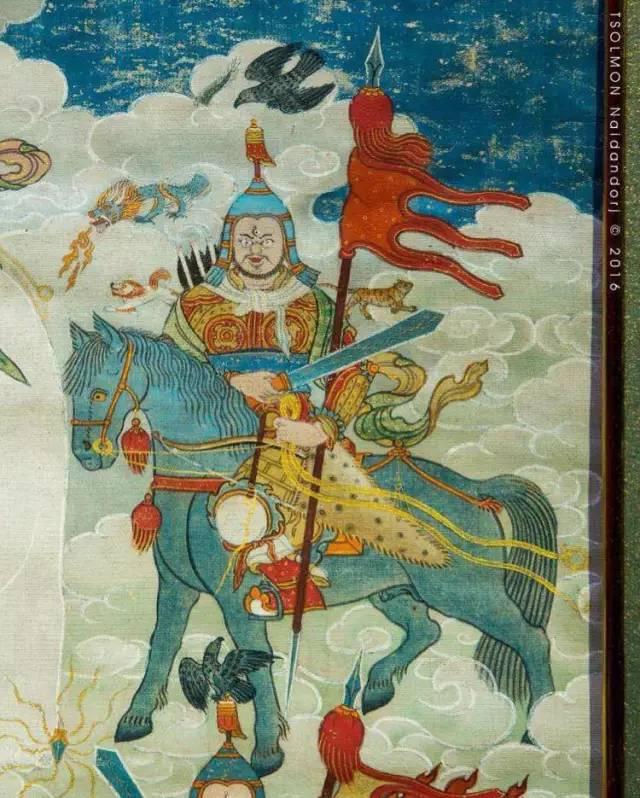 蒙古第一世哲布尊丹巴活佛亲身书画的圣主成吉思汗之像 第29张 蒙古第一世哲布尊丹巴活佛亲身书画的圣主成吉思汗之像 蒙古画廊