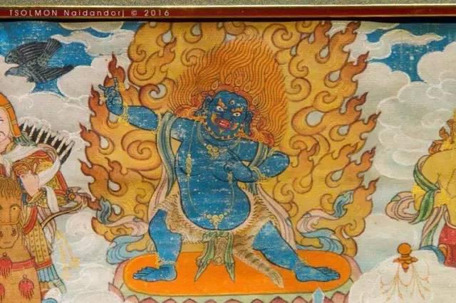 蒙古第一世哲布尊丹巴活佛亲身书画的圣主成吉思汗之像 第28张 蒙古第一世哲布尊丹巴活佛亲身书画的圣主成吉思汗之像 蒙古画廊