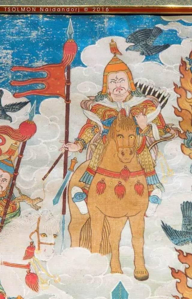 蒙古第一世哲布尊丹巴活佛亲身书画的圣主成吉思汗之像 第27张 蒙古第一世哲布尊丹巴活佛亲身书画的圣主成吉思汗之像 蒙古画廊