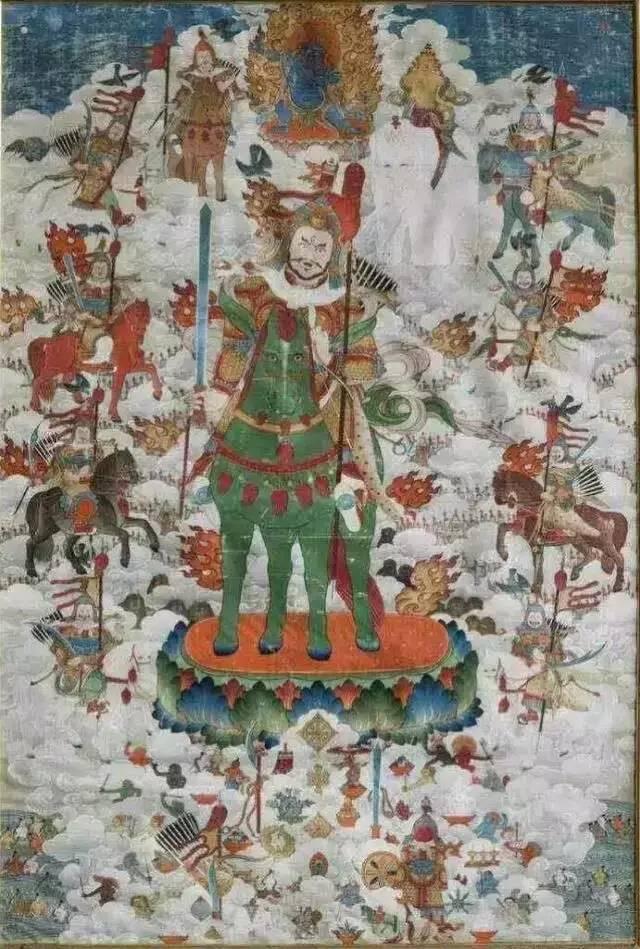 蒙古第一世哲布尊丹巴活佛亲身书画的圣主成吉思汗之像 第32张 蒙古第一世哲布尊丹巴活佛亲身书画的圣主成吉思汗之像 蒙古画廊