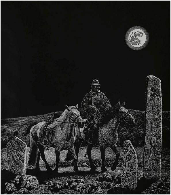 """""""游牧视界""""内蒙古小幅美术作品展作品欣赏 第10张"""