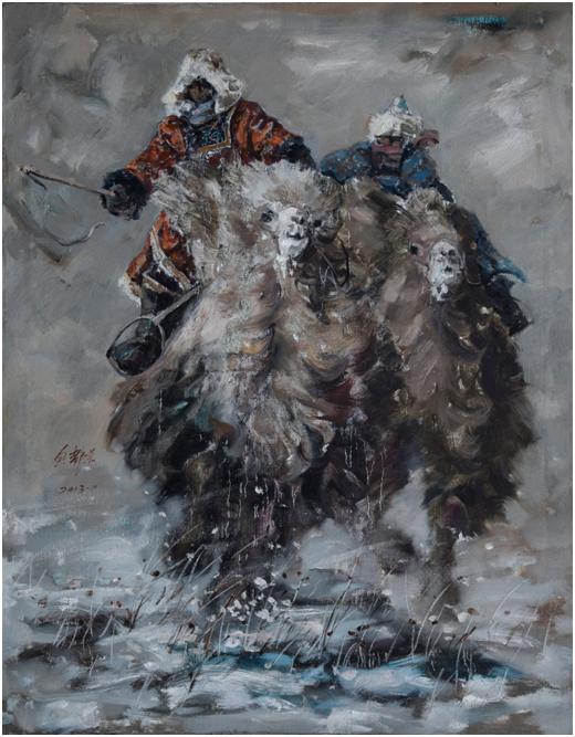 """""""游牧视界""""内蒙古小幅美术作品展作品欣赏 第18张"""