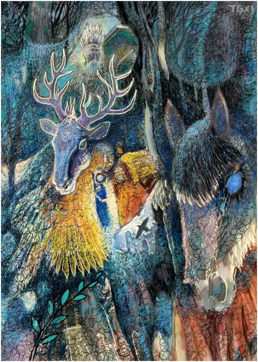 """""""游牧视界""""内蒙古小幅美术作品展作品欣赏 第28张"""
