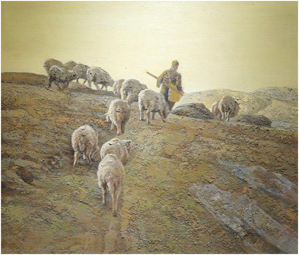 """""""游牧视界""""内蒙古小幅美术作品展作品欣赏 第40张"""