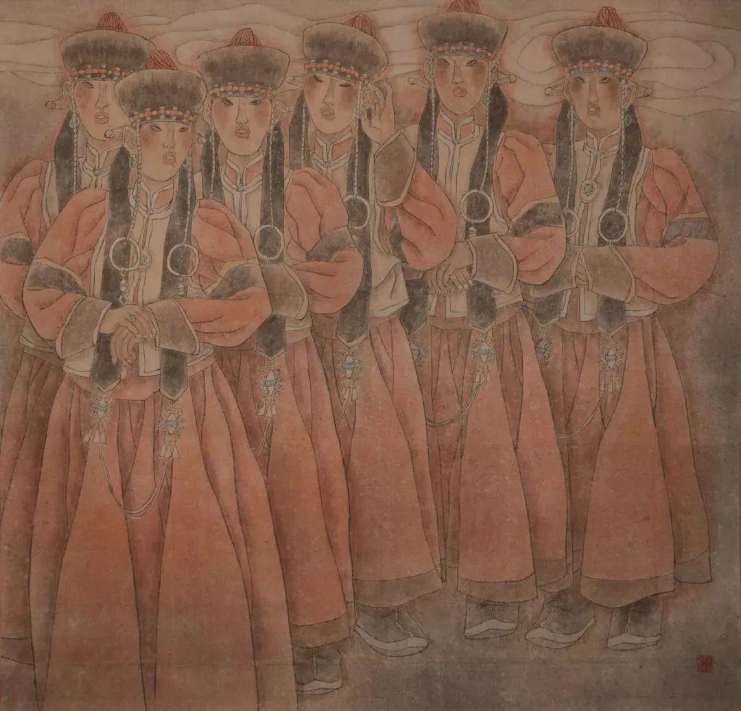 身边的名家丨美术家图力古尔 第4张 身边的名家丨美术家图力古尔 蒙古画廊