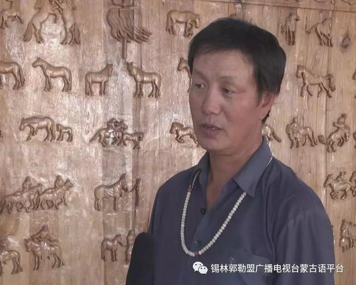 高·哈斯巴根雕刻的《蒙古族马文化经典木雕》作品与观众见面【蒙古文】 第23张
