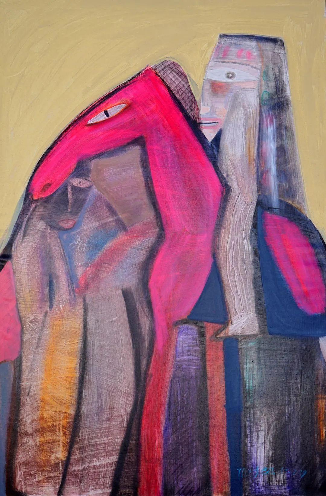 莫日根   用绘画寻找灵魂栖居之所 第2张 莫日根   用绘画寻找灵魂栖居之所 蒙古画廊