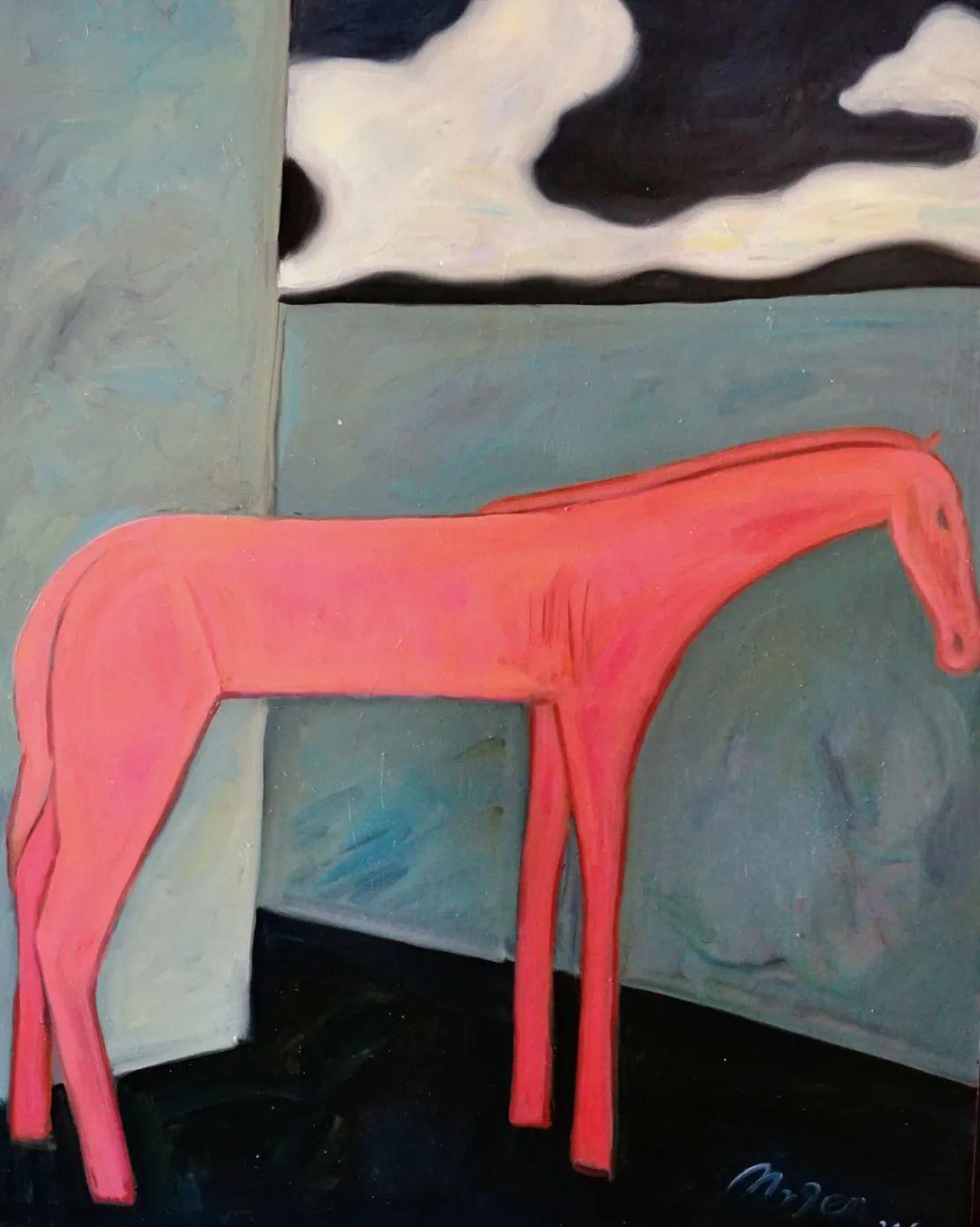 莫日根   用绘画寻找灵魂栖居之所 第5张 莫日根   用绘画寻找灵魂栖居之所 蒙古画廊