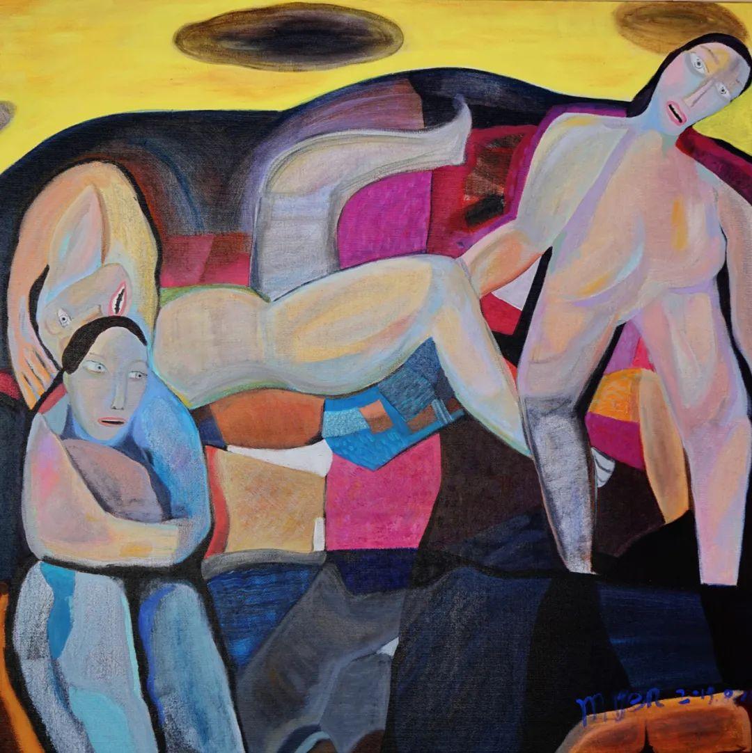 莫日根   用绘画寻找灵魂栖居之所 第7张 莫日根   用绘画寻找灵魂栖居之所 蒙古画廊