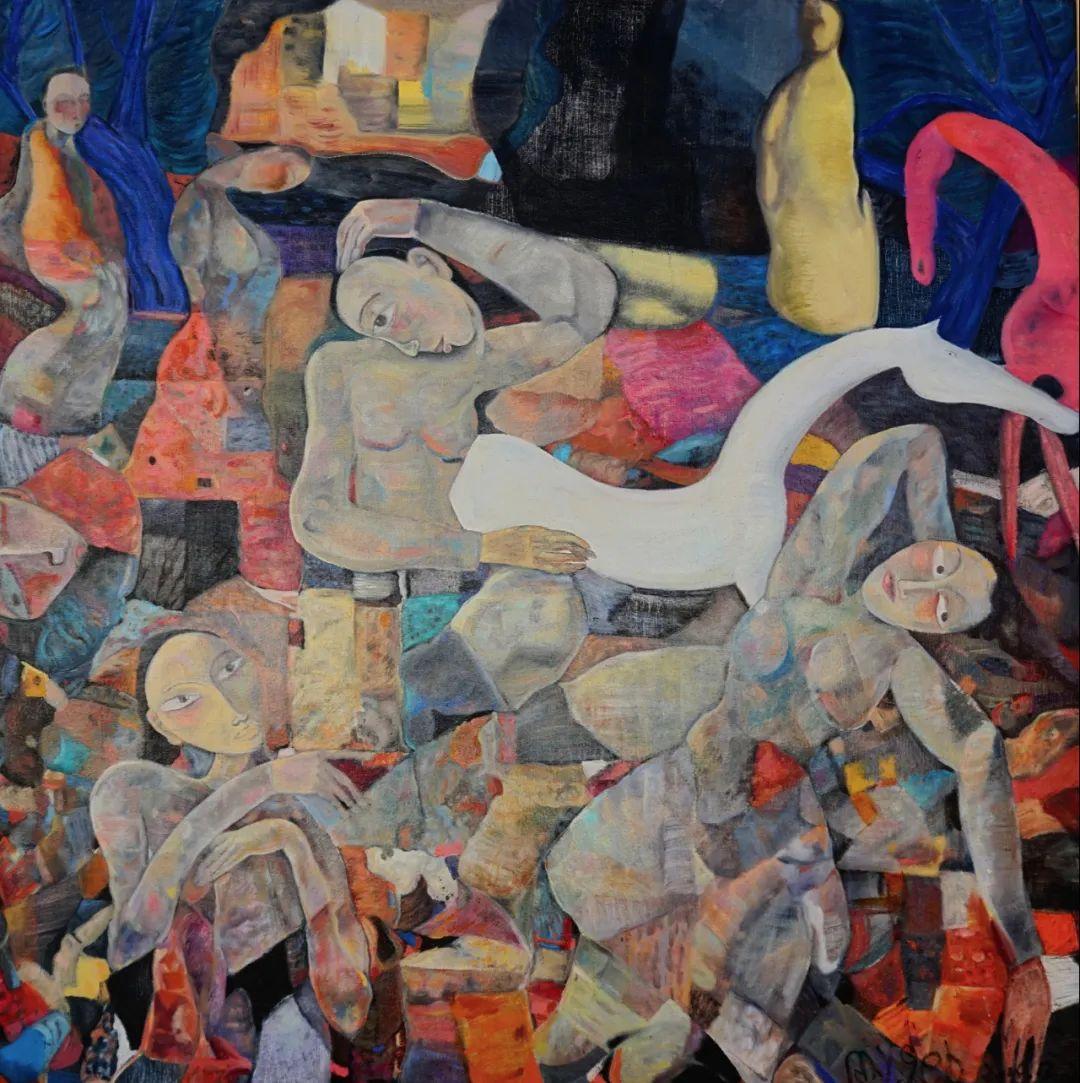 莫日根   用绘画寻找灵魂栖居之所 第8张 莫日根   用绘画寻找灵魂栖居之所 蒙古画廊