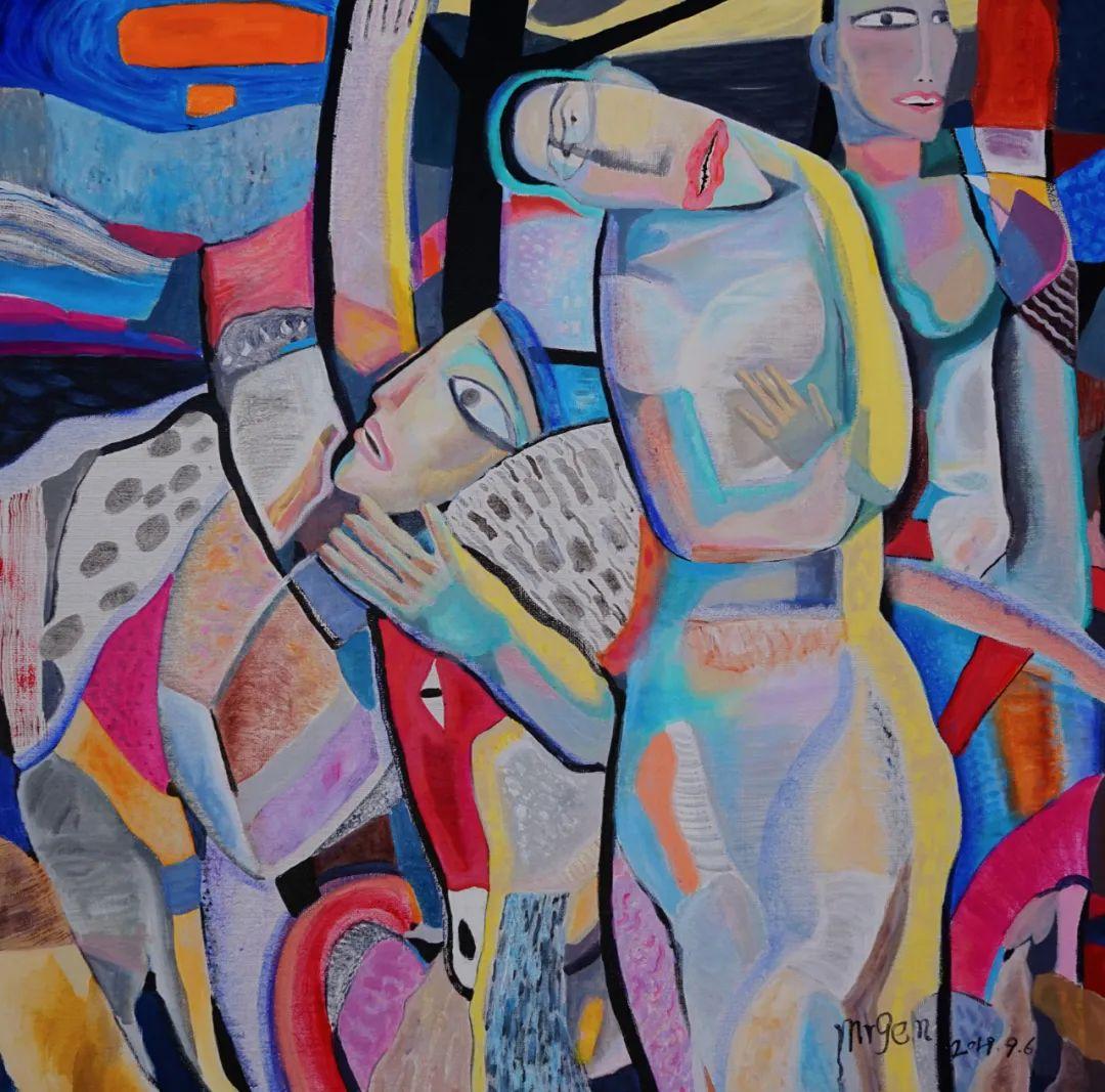 莫日根   用绘画寻找灵魂栖居之所 第11张 莫日根   用绘画寻找灵魂栖居之所 蒙古画廊