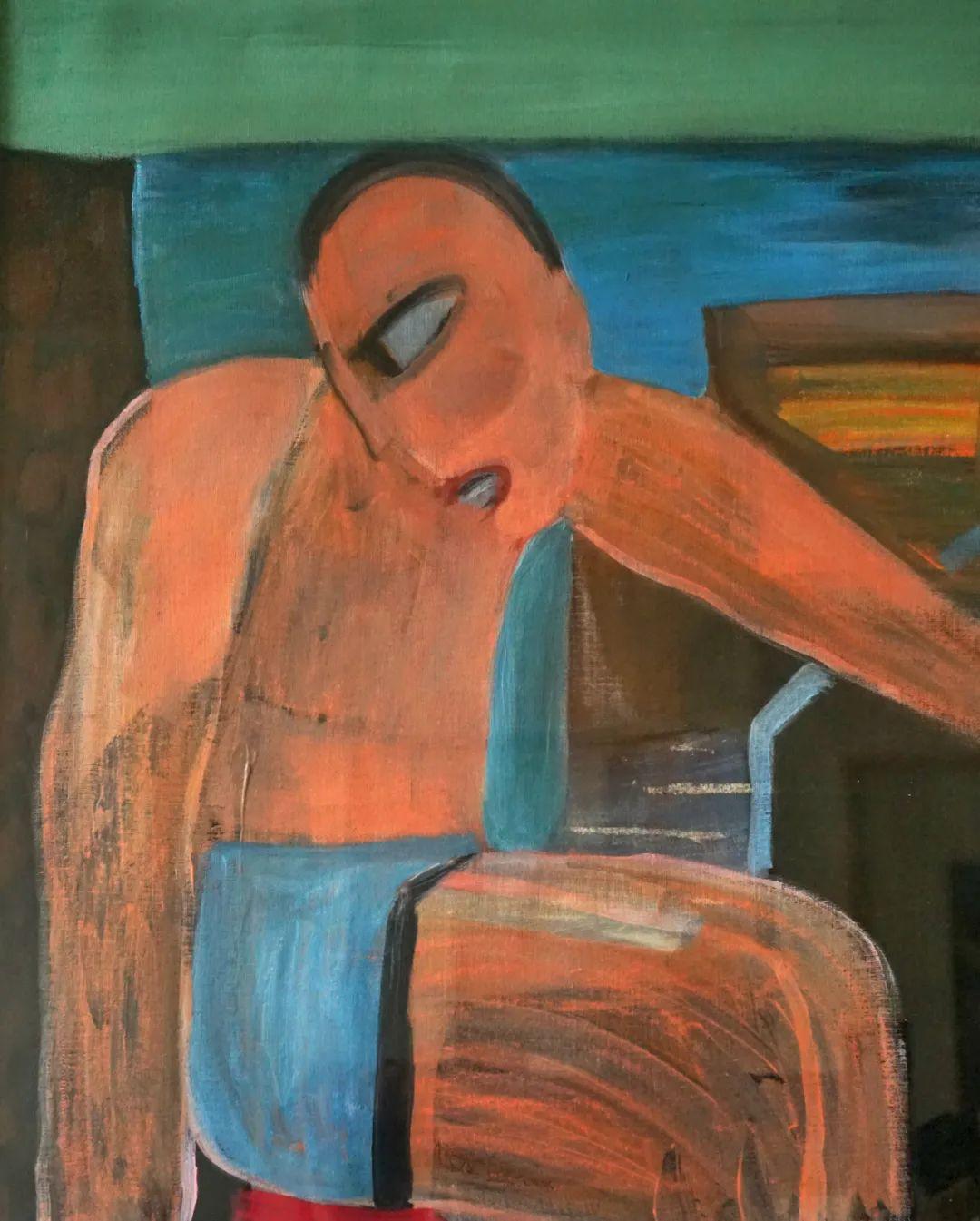 莫日根   用绘画寻找灵魂栖居之所 第13张 莫日根   用绘画寻找灵魂栖居之所 蒙古画廊