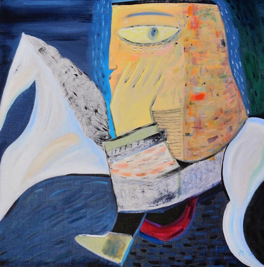 莫日根   用绘画寻找灵魂栖居之所 第17张 莫日根   用绘画寻找灵魂栖居之所 蒙古画廊