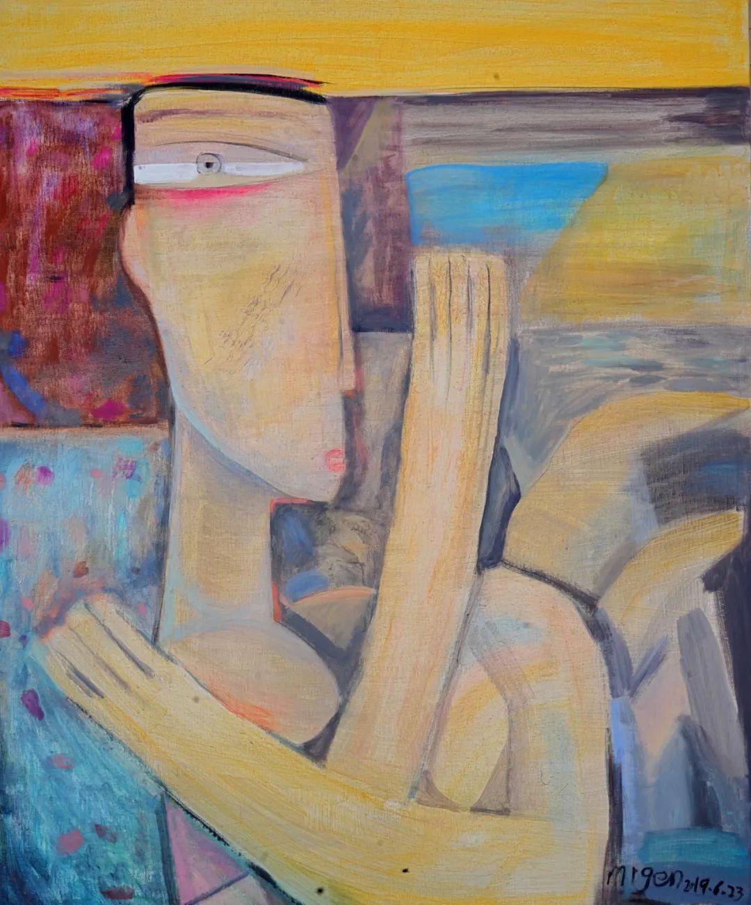 莫日根   用绘画寻找灵魂栖居之所 第18张 莫日根   用绘画寻找灵魂栖居之所 蒙古画廊
