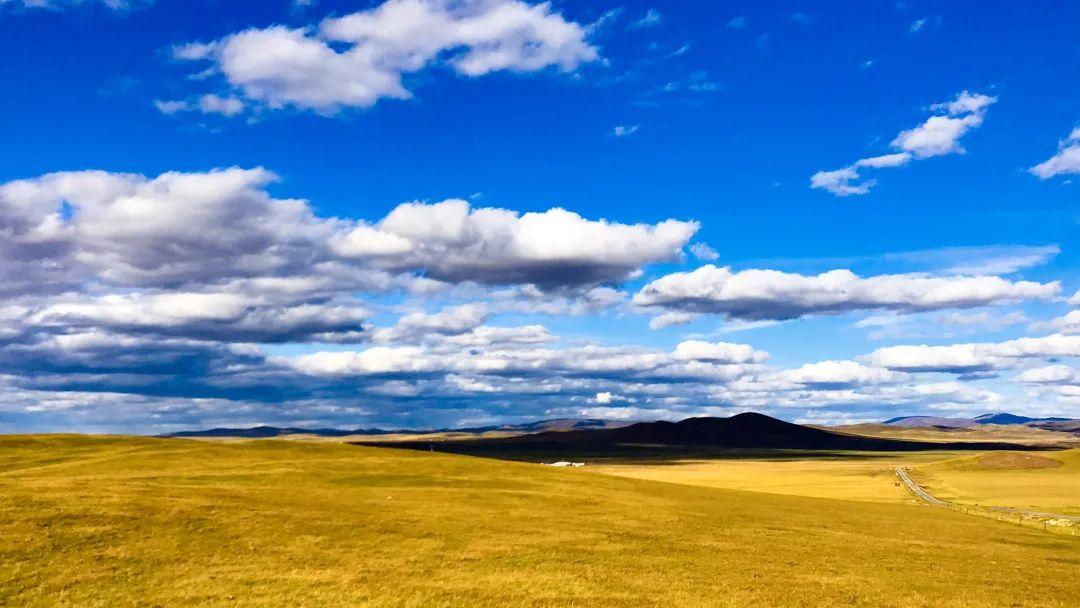 秋天的乌珠穆沁草原,太美了!