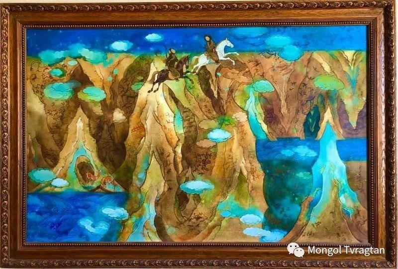 ᠤᠷᠠᠨ ᠵᠢᠷᠤᠭ -  ᠨᠤᠷᠮᠠᠨᠵᠠᠪ 蒙古国画家--努尔曼扎布 第3张 ᠤᠷᠠᠨ ᠵᠢᠷᠤᠭ -  ᠨᠤᠷᠮᠠᠨᠵᠠᠪ 蒙古国画家--努尔曼扎布 蒙古画廊