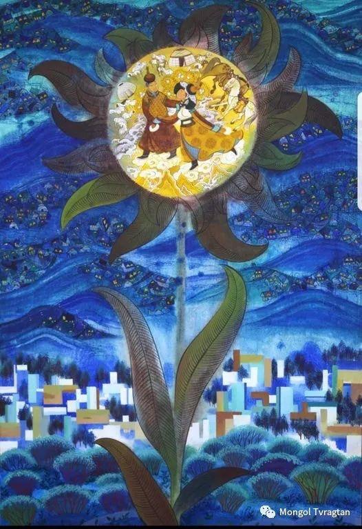 ᠤᠷᠠᠨ ᠵᠢᠷᠤᠭ -  ᠨᠤᠷᠮᠠᠨᠵᠠᠪ 蒙古国画家--努尔曼扎布 第2张 ᠤᠷᠠᠨ ᠵᠢᠷᠤᠭ -  ᠨᠤᠷᠮᠠᠨᠵᠠᠪ 蒙古国画家--努尔曼扎布 蒙古画廊