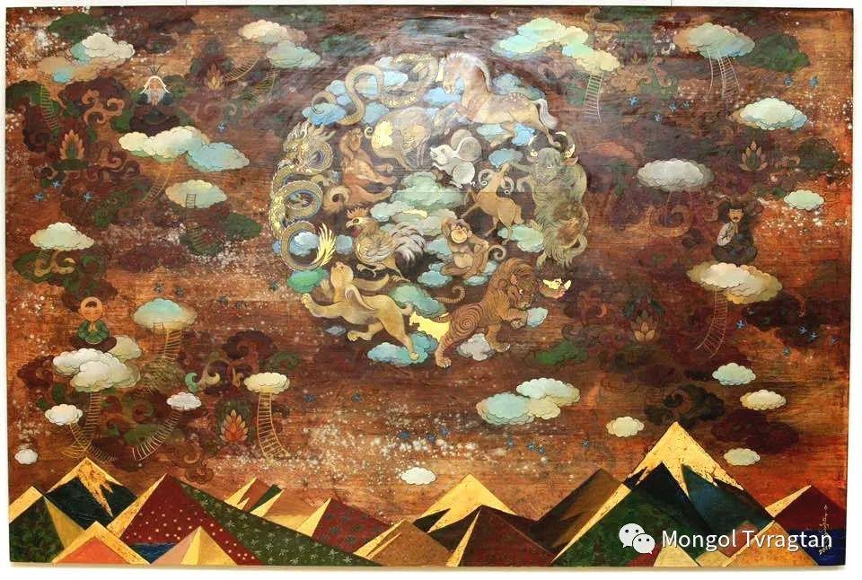 ᠤᠷᠠᠨ ᠵᠢᠷᠤᠭ -  ᠨᠤᠷᠮᠠᠨᠵᠠᠪ 蒙古国画家--努尔曼扎布 第1张 ᠤᠷᠠᠨ ᠵᠢᠷᠤᠭ -  ᠨᠤᠷᠮᠠᠨᠵᠠᠪ 蒙古国画家--努尔曼扎布 蒙古画廊