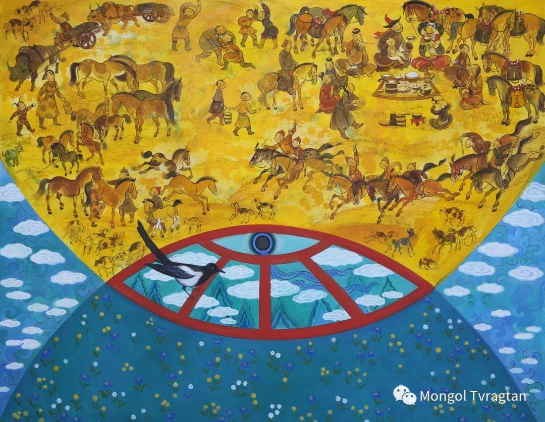 ᠤᠷᠠᠨ ᠵᠢᠷᠤᠭ -  ᠨᠤᠷᠮᠠᠨᠵᠠᠪ 蒙古国画家--努尔曼扎布 第7张 ᠤᠷᠠᠨ ᠵᠢᠷᠤᠭ -  ᠨᠤᠷᠮᠠᠨᠵᠠᠪ 蒙古国画家--努尔曼扎布 蒙古画廊