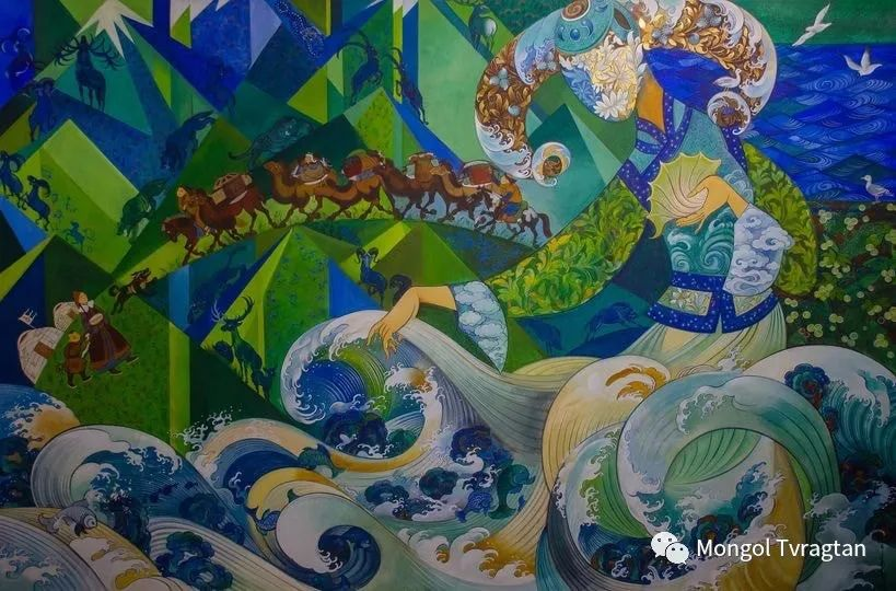 ᠤᠷᠠᠨ ᠵᠢᠷᠤᠭ -  ᠨᠤᠷᠮᠠᠨᠵᠠᠪ 蒙古国画家--努尔曼扎布 第9张 ᠤᠷᠠᠨ ᠵᠢᠷᠤᠭ -  ᠨᠤᠷᠮᠠᠨᠵᠠᠪ 蒙古国画家--努尔曼扎布 蒙古画廊