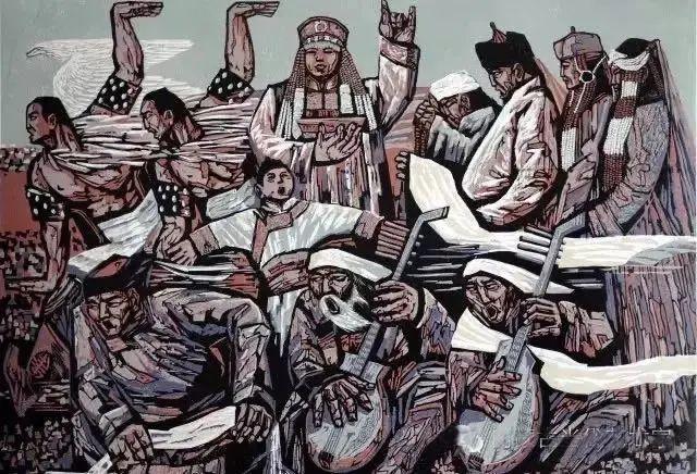 微展览丨哲里木版画:一把刻刀写给木板的传奇 第7张 微展览丨哲里木版画:一把刻刀写给木板的传奇 蒙古画廊