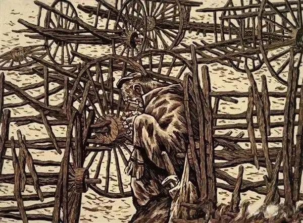 微展览丨哲里木版画:一把刻刀写给木板的传奇 第6张 微展览丨哲里木版画:一把刻刀写给木板的传奇 蒙古画廊