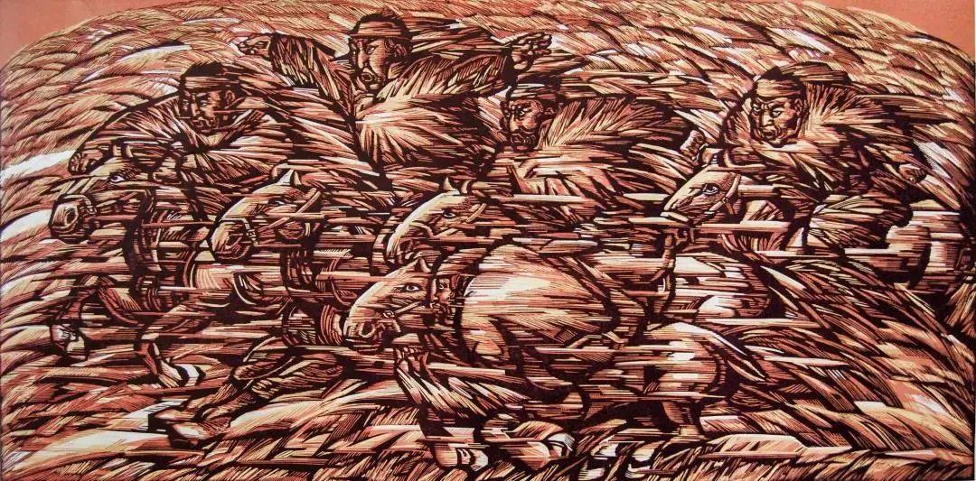微展览丨哲里木版画:一把刻刀写给木板的传奇 第10张 微展览丨哲里木版画:一把刻刀写给木板的传奇 蒙古画廊
