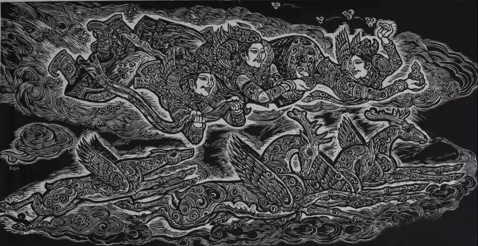 微展览丨哲里木版画:一把刻刀写给木板的传奇 第12张 微展览丨哲里木版画:一把刻刀写给木板的传奇 蒙古画廊