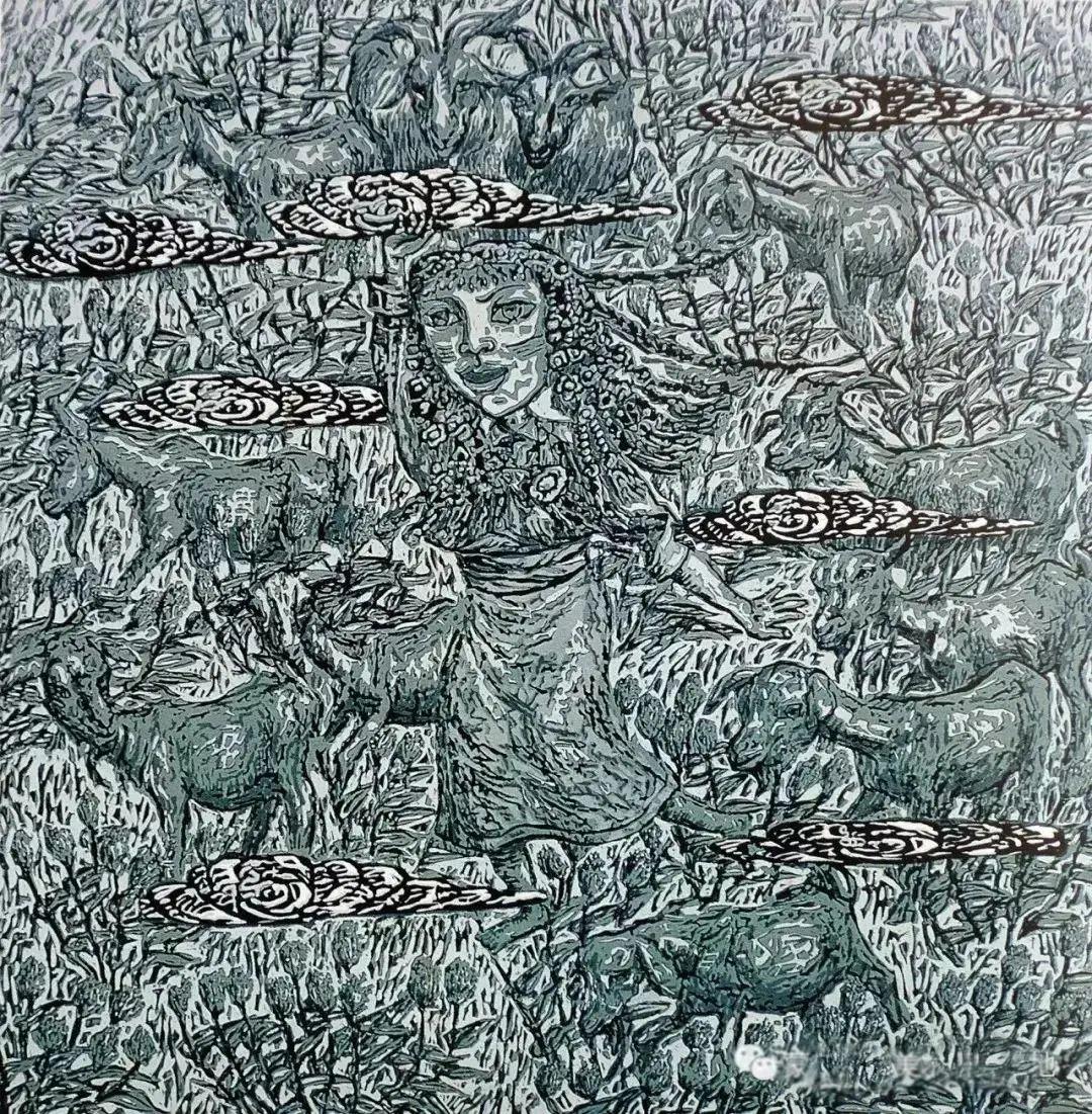 微展览丨哲里木版画:一把刻刀写给木板的传奇 第16张 微展览丨哲里木版画:一把刻刀写给木板的传奇 蒙古画廊