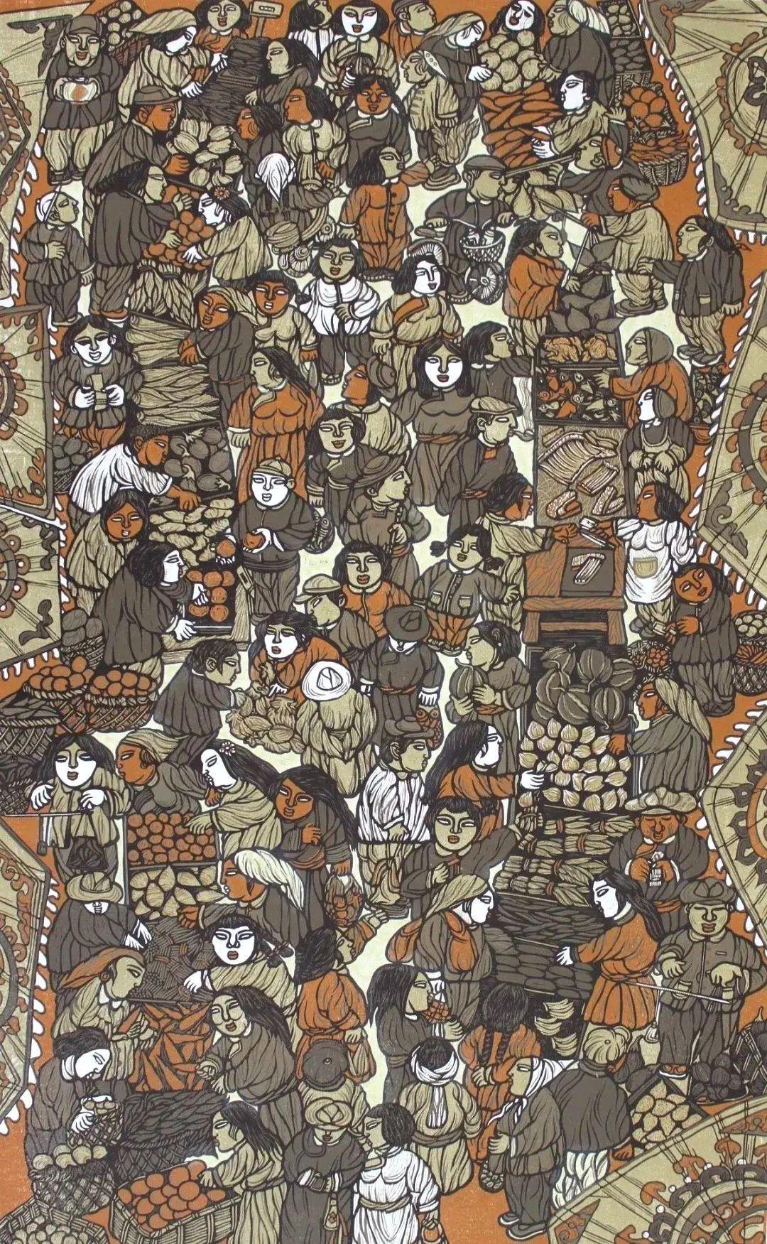 微展览丨哲里木版画:一把刻刀写给木板的传奇 第21张 微展览丨哲里木版画:一把刻刀写给木板的传奇 蒙古画廊