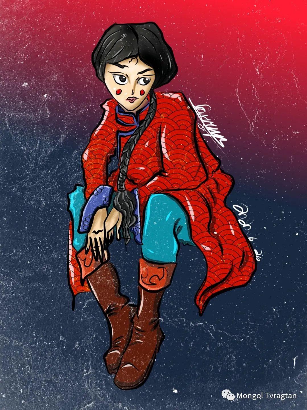 蒙古插画师 散其尔ᠮᠣᠩᠭᠣᠯ ᠵᠢᠷᠤᠭᠠᠴᠢ ᠆᠆᠆ ᠭᠣᠴᠢᠳ ᠣᠨ ᠰᠠᠨᠢᠴᠢᠷ 第8张 蒙古插画师 散其尔ᠮᠣᠩᠭᠣᠯ ᠵᠢᠷᠤᠭᠠᠴᠢ ᠆᠆᠆ ᠭᠣᠴᠢᠳ ᠣᠨ ᠰᠠᠨᠢᠴᠢᠷ 蒙古画廊