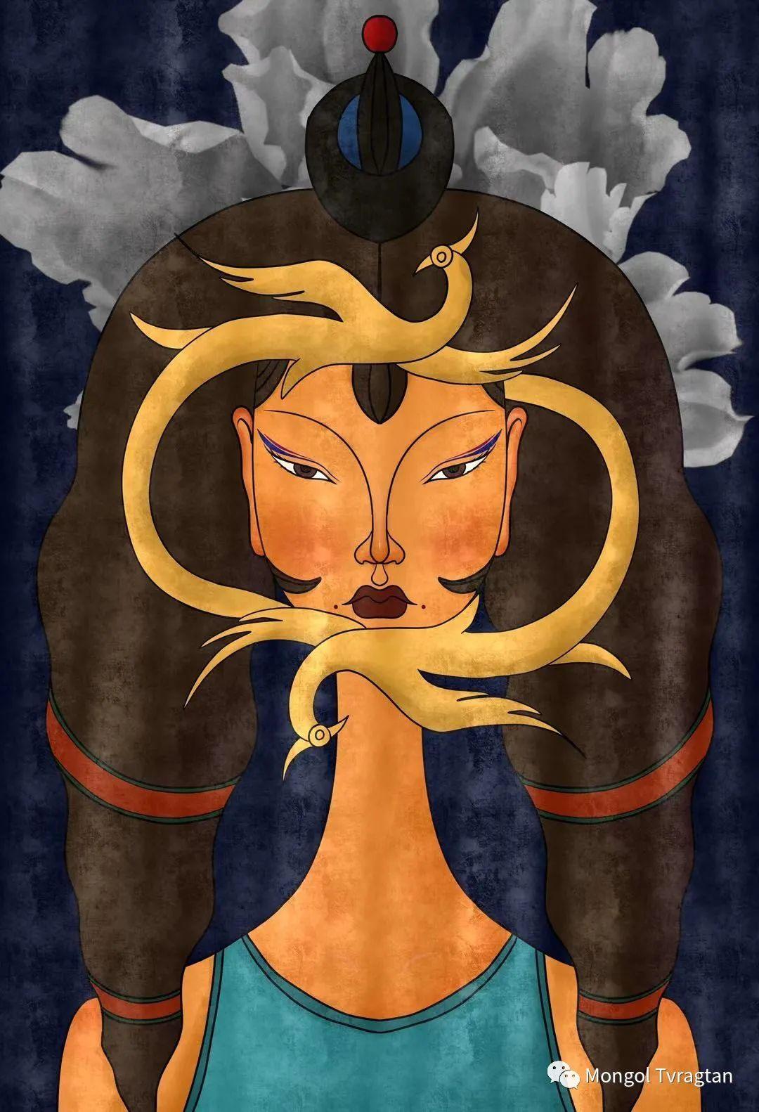 蒙元素插画师  产品设计师--格根塔娜 第1张 蒙元素插画师  产品设计师--格根塔娜 蒙古画廊